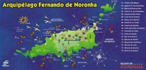 ALT = cosa fare a Fernando de Noronha, mappa dell'isola