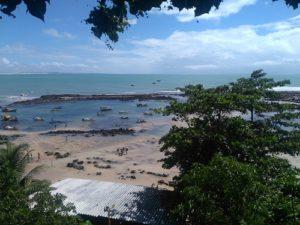 ALT = spiaggia di Pipa, Natal, Brasile, santuario di delfini e tartarughe marine