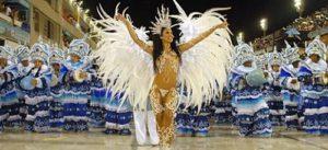 ALT= scuole di samba al carnevale di Rio de Janeiro